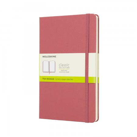 MOLESKINE NOTEBOOK LARGE PLAIN HARD COVER DAISY PINK QP062D11