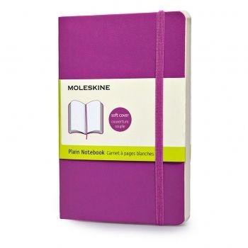 Moleskine Notebook Pkt Plain Orchid Purple Soft Cover Qp613H4
