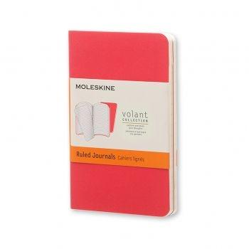 Moleskine Volant Journal Ruled Extra Small Geranium Red/Scarlet Red