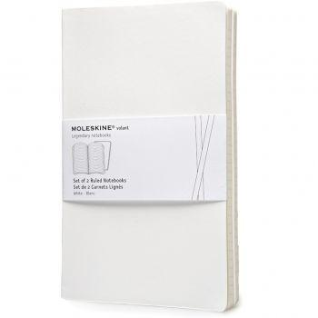 Moleskine Volant Notebooks Lg Ruled White Qp721Wh