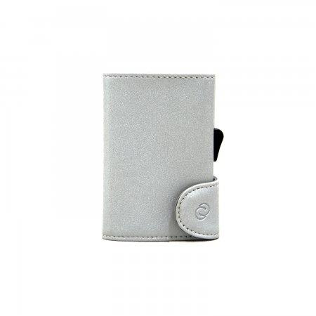 C-SECURE RFID Glitter Wallet Grey/ Silver Card holder