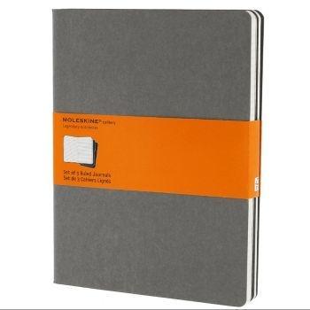 Moleskine Cahier Journals Xl Ruled Light Grey Ch321