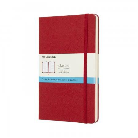 MOLESKINE NOTEBOOK LARGE DOT HARD COVER SCARLET RED QP066F2