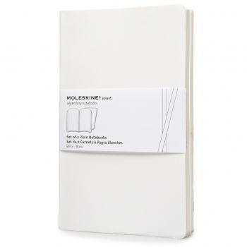 Moleskine Volant Notebooks Lg Plain White Qp723Wh