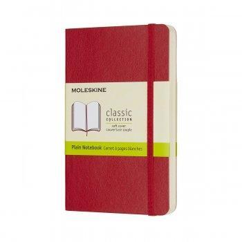 MOLESKINE NOTEBOOK POCKET PLAIN SCARLET RED SOFT COVER QP613F2