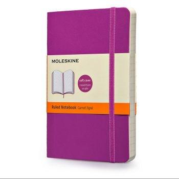 Moleskine Notebook Pkt Ruled Orchid Purple Soft Cover Qp611H4