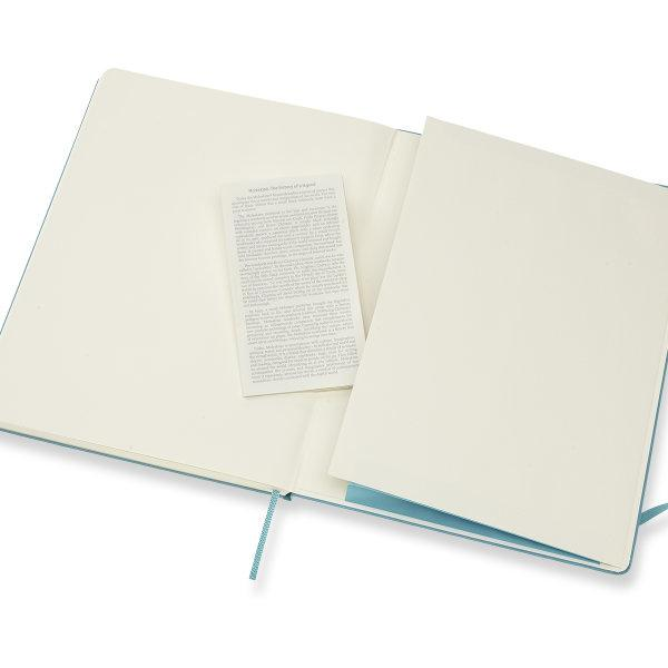 Moleskine สมุดบันทึก ปกแข็ง สีฟ้า ขนาดใหญ่พิเศษ 19x25 ซม MOLESKINE NOTEBOOK XL HARD COVER R.BLUE 19X25 CM