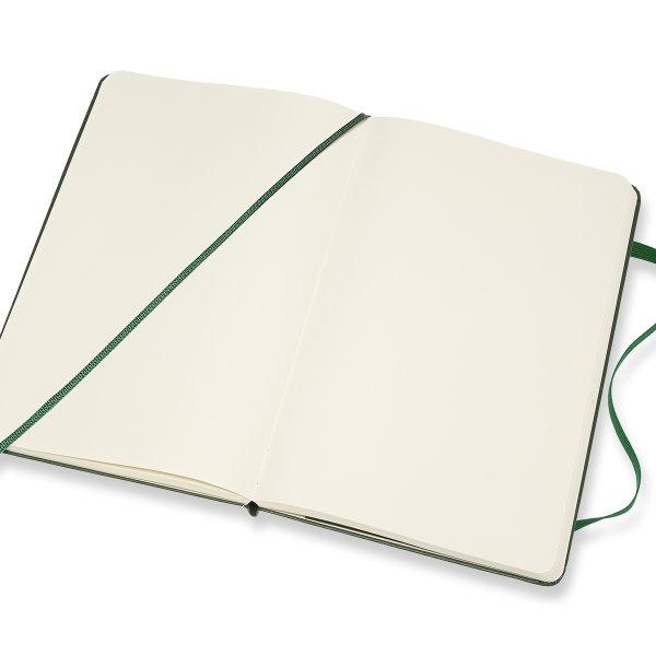 Moleskine สมุดบันทึก ปกแข็ง สีเขียว ขนาดใหญ่ 13x21 ซม MOLESKINE NOTEBOOK LARGE HARD COVER M.GREEN 13X21 CM