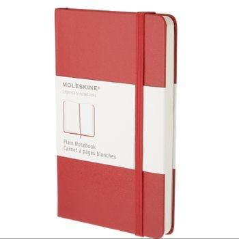 Moleskine Notebook Pkt Plain Red Hard Cover Qp012R