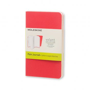 Moleskine Volant Journal Plain Extra Small Geranium Red/Scarlet Red