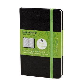 Moleskine Evernote Notebook Pkt Squared Black Mm712Ever