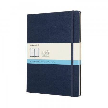 MOLESKINE NOTEBOOK XL DOT HARD COVER SAPPHIRE BLUE QP093B20