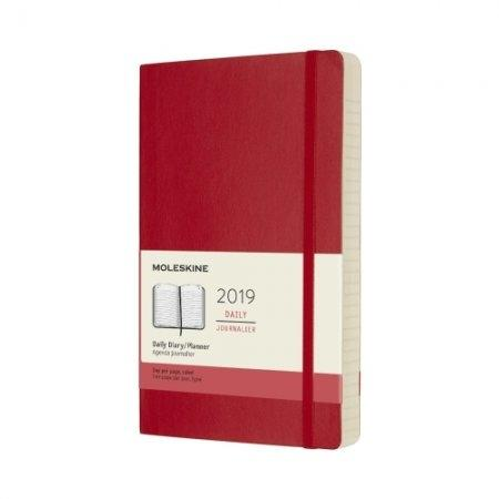 2019 12M DAILY POCKET SCARLET RED HARD COVER