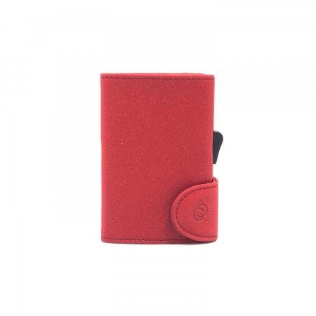 C-SECURE RFID Glitter Wallet Red/ Coral Red Card holder