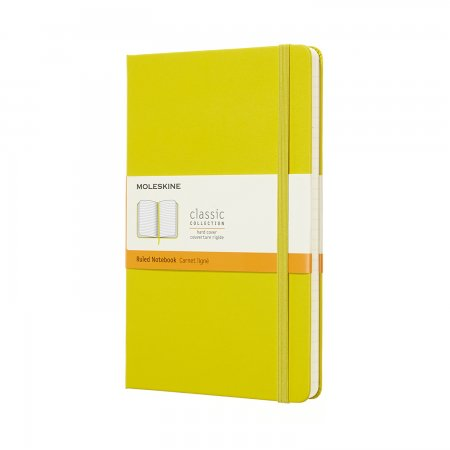 MOLESKINE NOTEBOOK LARGE RULED HARD COVER Dandelion Yellow QP060M18