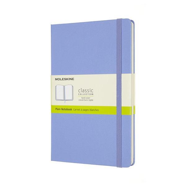 CLASSIC NOTEBOOK LARGE PLAIN HYDRANGEA BLUE HARD COVER