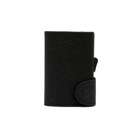 C-SECURE RFID Glitter Wallet Black/ Black Card holder