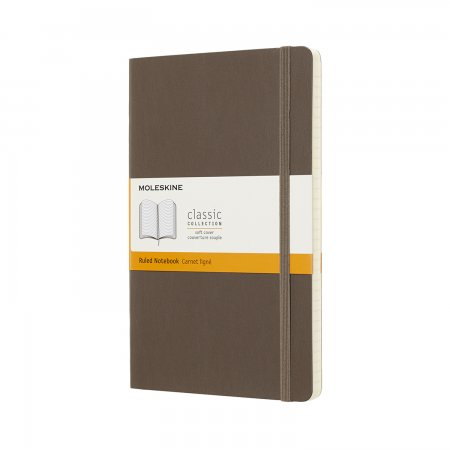 MOLESKINE NOTEBOOK LARGE RULED SOFT COVER EARTH BROWN QP616P14