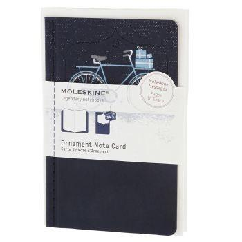 Moleskine Ornament Card Pocket - Snowy Bicycle