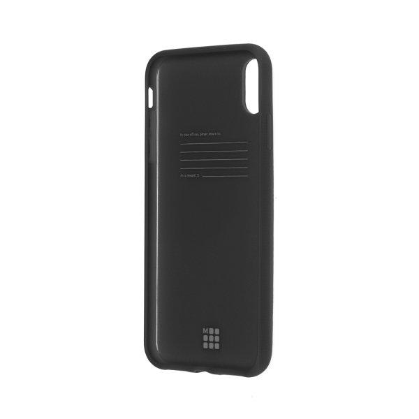 MOLESKINE CLASSIC SOFT-TOUCH HARD CASE iPHONE XS MAX - BLACK