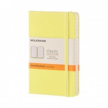 MOLESKINE NOTEBOOK POCKET RULED CITRON YELLOW HARD COVER