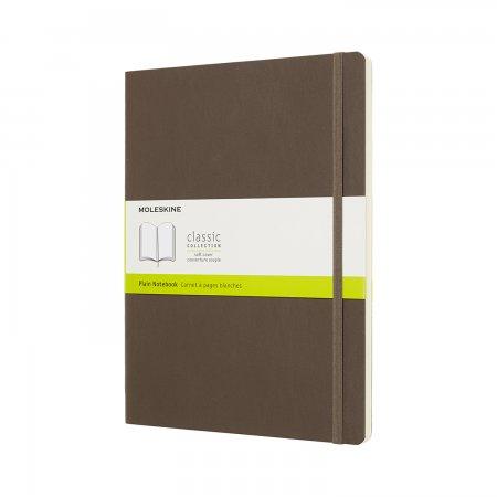 MOLESKINE NOTEBOOK XL PLAIN SOFT COVER EARTH BROWN QP623P14