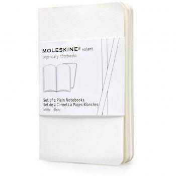 Moleskine Volant Notebooks Xs Plain White Qp703Wh
