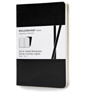 Moleskine Volant Notebooks Pkt Ruled Black Qp711Bk