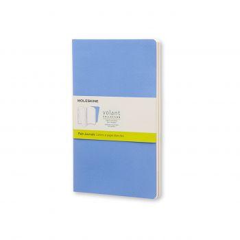 Moleskine Volant Journal Plain Large Powder Blue/Royal Blue