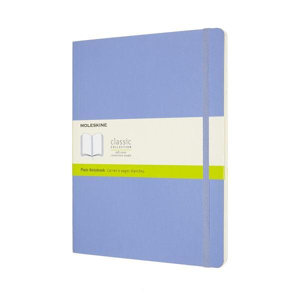 CLASSIC NOTEBOOK XL PLAIN HYDRANGEA BLUE SOFT COVER