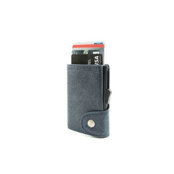 C-SECURE RFID Vintage Leather Coin-Wallet Notte/ Black Card holder
