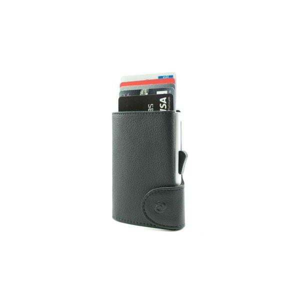 C-SECURE RFID Classic Wallet Black/ Silver Card holder