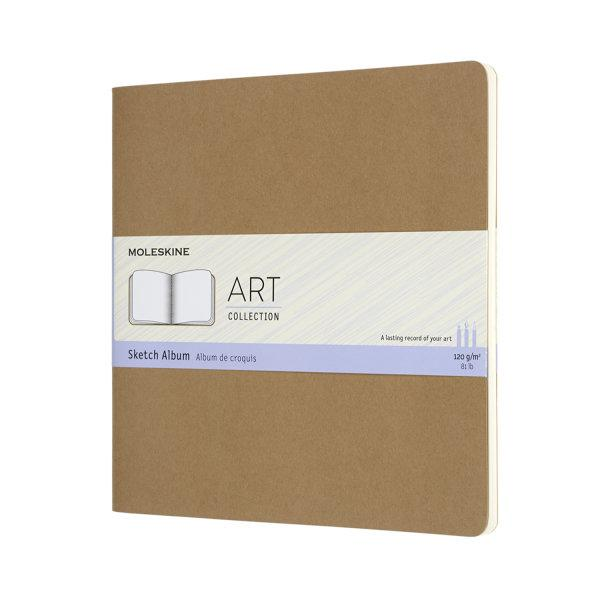 ARTSKA5P3 Art Cahier Sketch Album Squared Kraft Brown