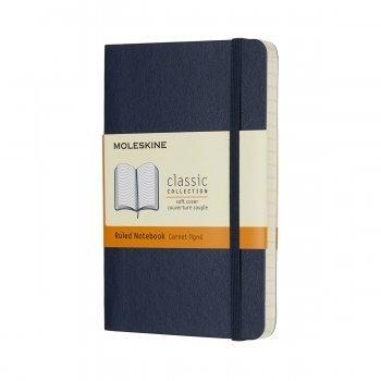 MOLESKINE NOTEBOOK POCKET RULED SAPPHIRE BLUE SOFT COVER QP611B20