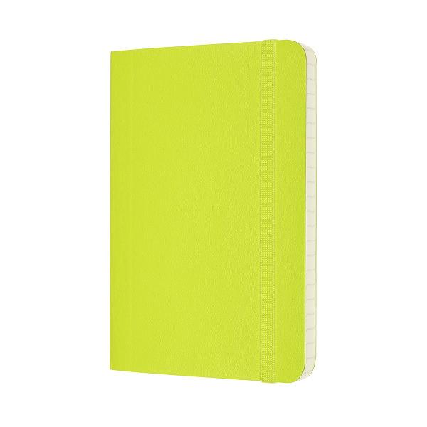 Moleskine สมุดบันทึก ปกอ่อน สีเขียวมะนาว ขนาดเล็ก 9x14 ซม MOLESKINE NOTEBOOK POCKET SOFT COVER L.GREEN 9X14 CM