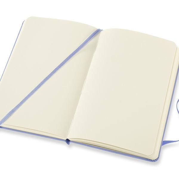 Moleskine สมุดบันทึก ปกแข็ง สีฟ้าไฮเดรนเยีย ขนาดเล็ก 9x14 ซม MOLESKINE NOTEBOOK POCKET HARD COVER H.BLUE 9X14 CM