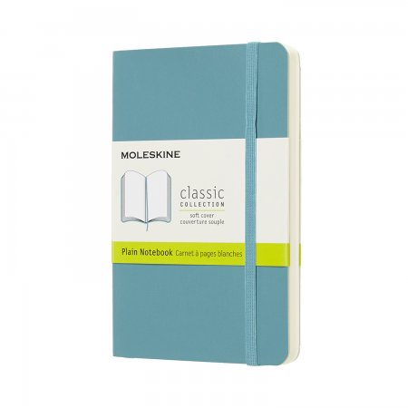 MOLESKINE NOTEBOOK POCKET PLAIN SOFT COVER REEF BLUE QP613B35