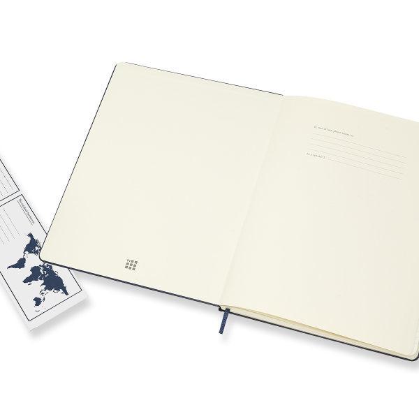 Moleskine สมุดบันทึก ปกแข็ง สีน้ำเงิน ขนาดใหญ่พิเศษ 19x25 ซม MOLESKINE NOTEBOOK XL HARD COVER SAP.BLUE 19X25CM
