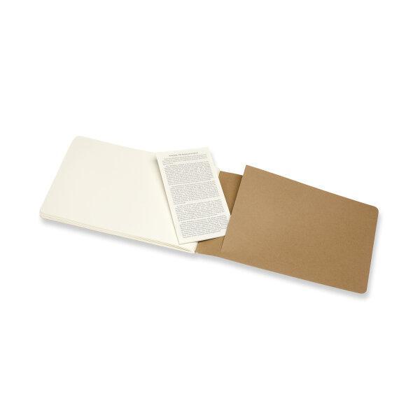 Moleskine สมุดสเก็ตซ์ภาพ ปกกระดาษ สีน้ำตาล MOLESKINE CAHIER SKETCHBOOK KRAFT BROWN
