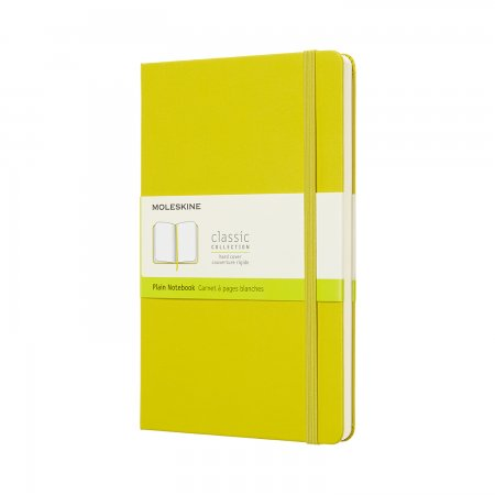 MOLESKINE NOTEBOOK LARGE PLAIN HARD COVER Dandelion Yellow QP062M18