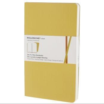 Moleskine Volant Notebooks Lg Plain Yellow Qp723N12