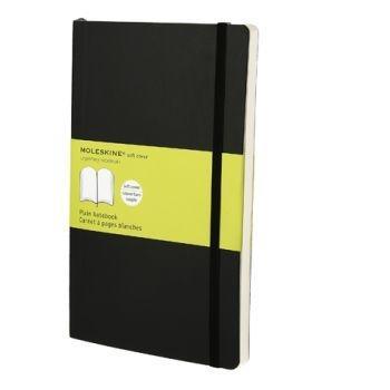 Moleskine Notebook Lg Plain Black Soft Cover Qp618