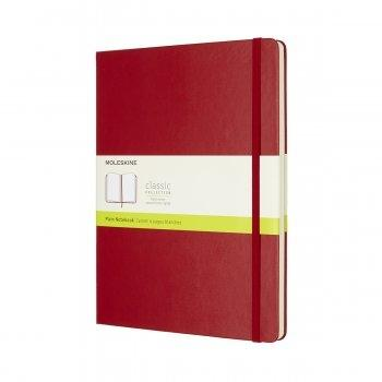 MOLESKINE NOTEBOOK XL PLAIN SCARLET RED HARD COVER QP092F2