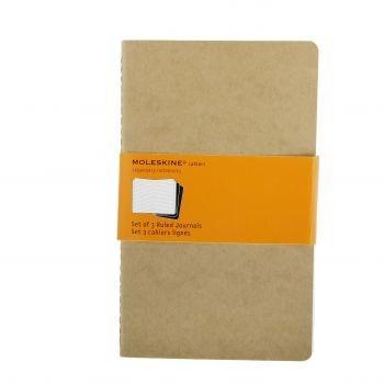 Moleskine Cahier Journals Lg Ruled Kraft Qp416