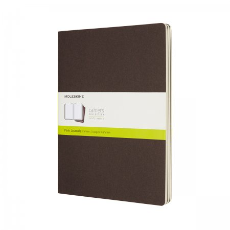 MOLESKINE CAHIER JOURNALS XL PLAIN COFFEE BROWN CH023P2