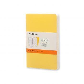 Moleskine Volant Journal Ruled Pocket Sunflower Yellow/Brass Yellow