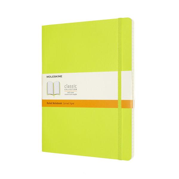CLASSIC NOTEBOOK XL RULED LEMON GREEN SOFT COVER