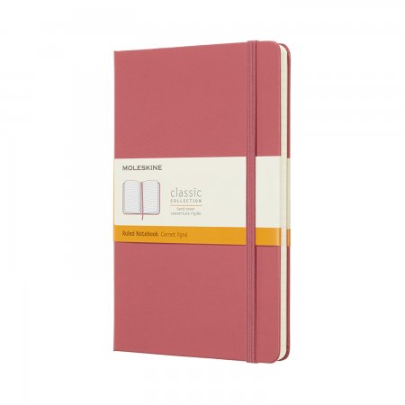 MOLESKINE NOTEBOOK LARGE RULED HARD COVER DAISY PINK QP060D11