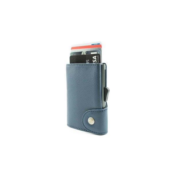 C-SECURE RFID Classic Leather Wallet Blue Marino/ Grey Card holder