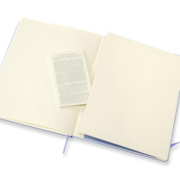 Moleskine สมุดบันทึก ปกแข็ง สีฟ้าไฮเดรนเยีย ขนาดใหญ่พิเศษ 19x25 ซม MOLESKINE NOTEBOOK XL HARD COVER H.BLUE 19X25 CM